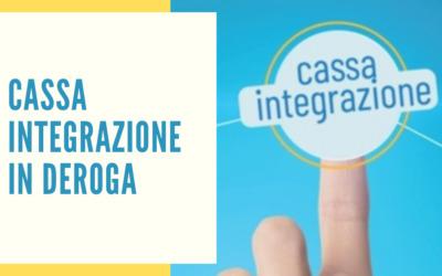 """CASSA INTEGRAZIONE IN DEROGA – """"Cura Italia"""""""