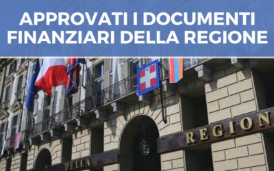 APPROVATI I DOCUMENTI FINANZIARI DELLA Regione Piemonte