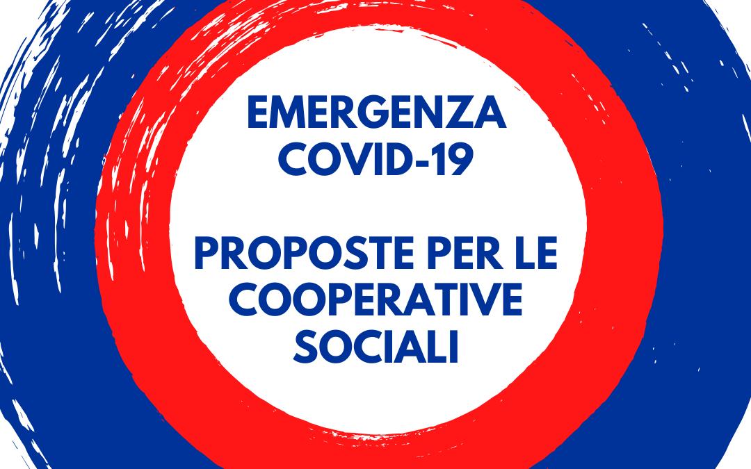 EMERGENZA COVID-19: PROPOSTE IN FAVORE DELLA COOPERAZIONE SOCIALE