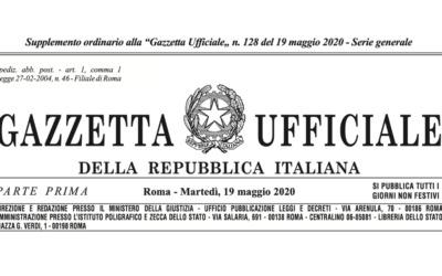 D.L. RILANCIO – DECRETO LEGGE N. 34 DEL 19.05.2020