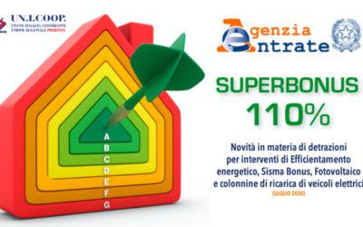 """""""SUPERBONUS 110%"""", LA GUIDA DELL'AGENZIA DELLE ENTRATE"""