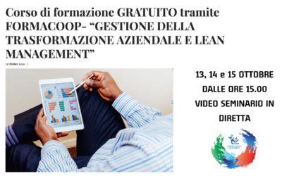 TRASFORMAZIONE AZIENDALE E LEAN MANAGEMENT – UNICOOP Lazio