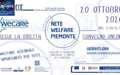 ISCRIZIONE GRATUITA CONVEGNO RETE WELFARE PIEMONTE 20.10.2020