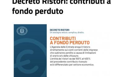 DECRETO RISTORI (D.L. 137/2020) – TESTO E SCHEDA DI SINTESI